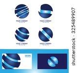 vector company logo icon... | Shutterstock .eps vector #325489907