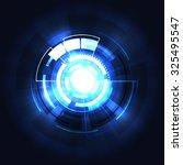 illustration of blue abstract... | Shutterstock .eps vector #325495547
