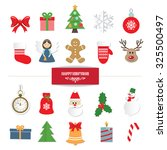 christmas decorative elements... | Shutterstock .eps vector #325500497