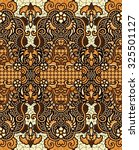 seamless javanese batik pattern....   Shutterstock . vector #325501127