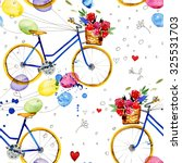 hand drawn watercolor pattern... | Shutterstock . vector #325531703