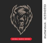 buffalo head animal symbol....