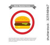 burger icon | Shutterstock .eps vector #325548467