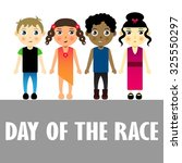 four kids of different races on ... | Shutterstock .eps vector #325550297