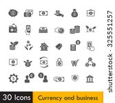 set of currency and business...   Shutterstock .eps vector #325551257