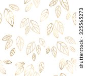 fall banner with gold leaves.... | Shutterstock .eps vector #325565273