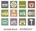 car srvice icons | Shutterstock .eps vector #325581317