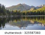 Bear Lake at sunrise. Rocky Mountain National Park, Colorado, United States.