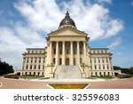 Small photo of Kansas State Capitol building located in Topeka, Kansas, USA.