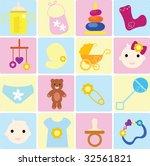 baby items | Shutterstock .eps vector #32561821