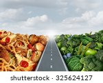 diet lifestyle concept or... | Shutterstock . vector #325624127