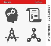 science icons. professional ... | Shutterstock .eps vector #325625897