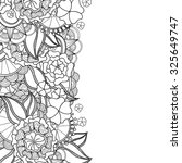zentangle floral invitation... | Shutterstock .eps vector #325649747