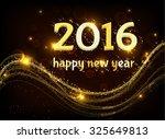 happy new year. 2016. | Shutterstock . vector #325649813