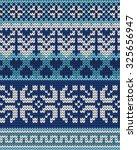 knitted winter seamless pattern | Shutterstock .eps vector #325656947