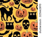 halloween background  with... | Shutterstock .eps vector #325662893