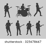 drummer and guitarman outlines | Shutterstock .eps vector #325678667