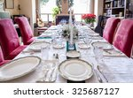 Dining Table Is Set For A...