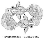 zentangle stylized floral china ... | Shutterstock .eps vector #325696457