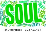 soul word cloud on a white... | Shutterstock .eps vector #325711487