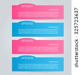 business infographics tabs... | Shutterstock .eps vector #325723637