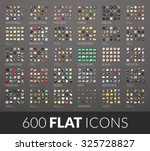 large icons set  600 vector...