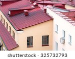 new red metal tiled roofs of