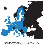european union map with stars... | Shutterstock .eps vector #325769177