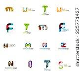 set of new universal company... | Shutterstock .eps vector #325771427