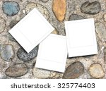 three blank square instant... | Shutterstock . vector #325774403