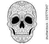 day of the dead sugar skull... | Shutterstock .eps vector #325779347