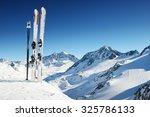 ski equipment in high mountains ... | Shutterstock . vector #325786133