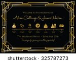 wedding timeline background | Shutterstock .eps vector #325787273