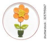 Vegetable Flower On Plate