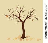 Autumn Tree With Last Leaf