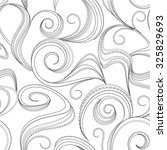 seamless abstract black swirl... | Shutterstock .eps vector #325829693