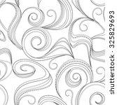 seamless abstract black swirl... | Shutterstock .eps vector #325829693