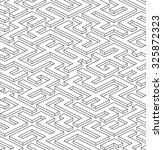 tiled white 3d maze background. ... | Shutterstock .eps vector #325872323