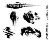 vector set of grunge brush... | Shutterstock .eps vector #325873403