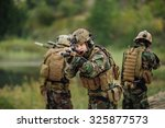 u.s. army rangers during the... | Shutterstock . vector #325877573
