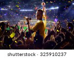 fans on stadium game  | Shutterstock . vector #325910237