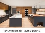 beautiful kitchen interior with ... | Shutterstock . vector #325910543