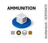 ammunition icon  vector symbol...