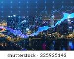 panoramic evening new york view ... | Shutterstock . vector #325935143