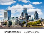 modern cityscape of london ... | Shutterstock . vector #325938143