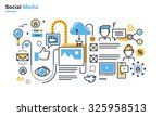 flat line illustration of... | Shutterstock .eps vector #325958513