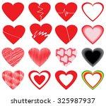vector hearts set   Shutterstock .eps vector #325987937