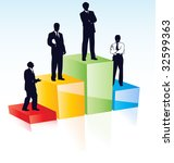 vector silhouettes of managers... | Shutterstock .eps vector #32599363