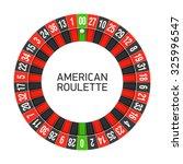 american roulette wheel. vector. | Shutterstock .eps vector #325996547