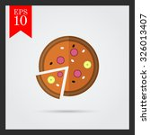 icon of pizza with cut slice | Shutterstock .eps vector #326013407